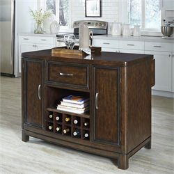 Home Styles Crescent Hill Kitchen Island in Two Tone Tortoise Shell