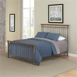 Home Styles The Orleans Spindle Headboard and Night Stand in Gray