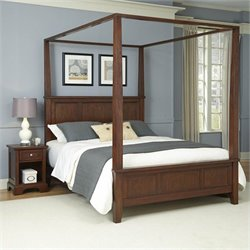 Home Styles Chesapeake Canopy Bed and Night Stand - Queen