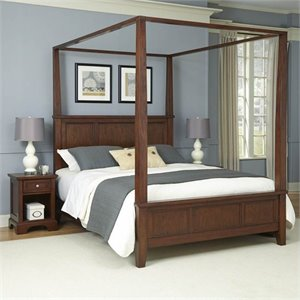 Home Styles Chesapeake Canopy Bed and Two Night Stands