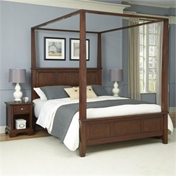 Home Styles Chesapeake Canopy Bed and Two Night Stands - Queen
