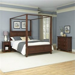 Home Styles Chesapeake Canopy Bed Night Stand and Chest - Queen