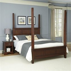 Home Styles Chesapeake Poster Bed and Night Stand - Queen