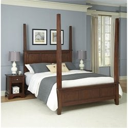 Home Styles Chesapeake Poster Bed and Two Night Stands - Queen