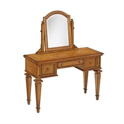 Home Styles Americana Bedroom Vanity and Mirror in Oak