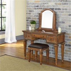 Home Styles Americana Bedroom Vanity and Bench in Natural Acacia