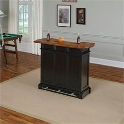 Home Styles Americana Home Bar in Black Oak