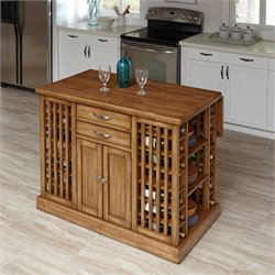 Home Styles Vintner Kitchen Island in Warm Oak