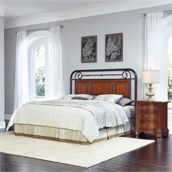 Home Styles Richmond Hill Headboard 2 Piece Bedroom Set in Cognac