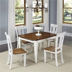 Home Styles Americana 5 Piece Dining Set in White Oak