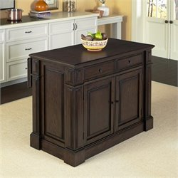 Home Styles Prairie Home Kitchen Island Cart in Black Oak