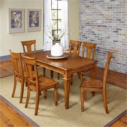 Home Styles Americana 7 Piece Dining Set in Oak