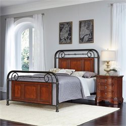 Queen 2 Piece Bedroom Set in Cognac