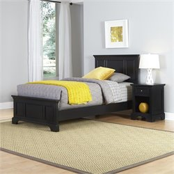 Home Styles Bedford Twin 2 Piece Bedroom Set in Black