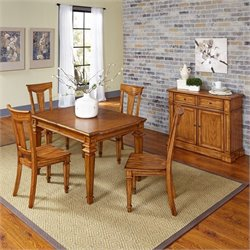 Home Styles Americana 6 Piece Dining Set in Oak