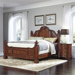 Home Styles Santiago King 2 Piece Bedroom Set in Cognac