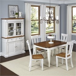 Home Styles Americana 6 Piece Dining Set in White Oak