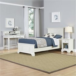 Home Styles Naples Twin 4 Piece Bedroom Set in White