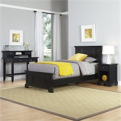 Home Styles Bedford Twin 4 Piece Bedroom Set in Black