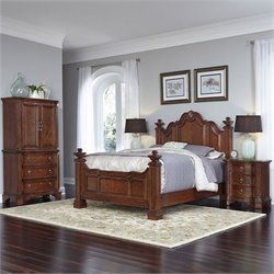 Queen 4 Piece Bedroom Set in Cognac