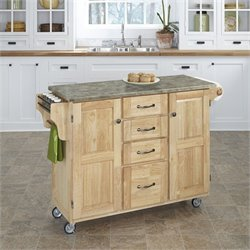 Home Styles Create-a-Cart Concrete Top Kitchen Cart in Natural
