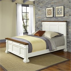 Panel Bed in White
