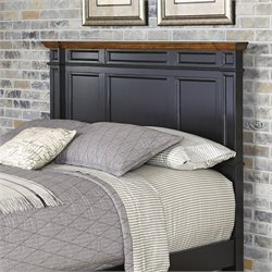Home Styles Americana Panel Headboard in Black - Full-Queen
