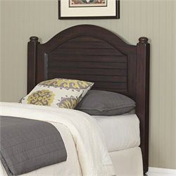 Home Styles Bermuda Wood Shutter Twin Headboard in Espresso