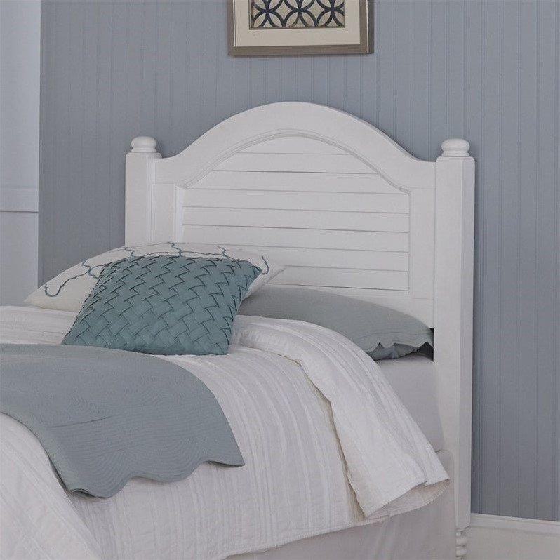 Wood Shutter Twin Headboard In White 5543 401
