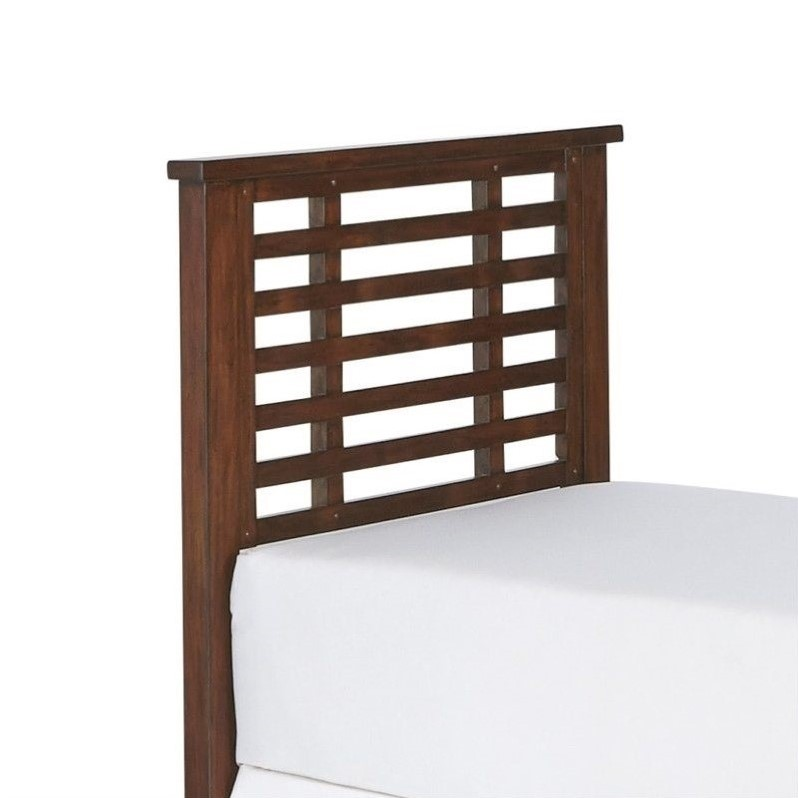 Wood Twin Slatted Headboard In Chestnut 5410 401