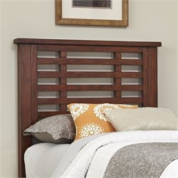 Wood Twin Slatted Headboard in Chestnut