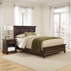 Home Styles Colonial Classic 2 Piece Wood Queen Bedroom Set in Cherry