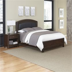 Home Styles Crescent Hill 2 Piece Upholstered Bedroom Set