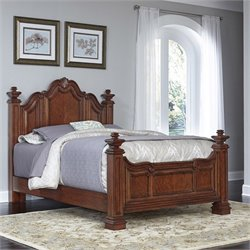 Wood Queen Bed in Cognac