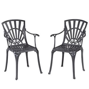 Patio Dining Chair in Charcoal (Set of 2)