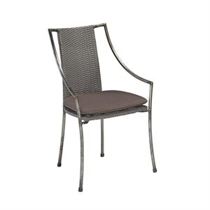 Patio Dining Chair in Aged Metal