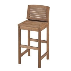 Home Styles Bali Hai Tiki Patio Bar Stool in Eucalyptus