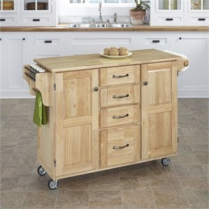 Home Styles Kitchen Cart in Natural Finish
