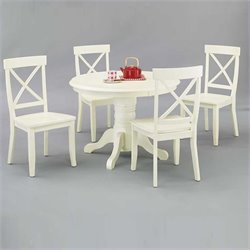 Home Styles Round Bistro Dining Table in Antique White