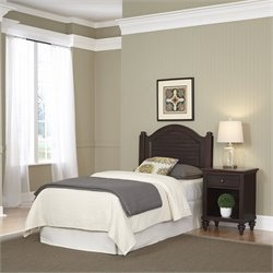 Home Styles Bermuda Twin Headboard and Night Stand in Espresso