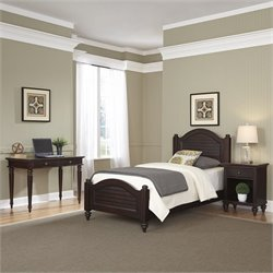 Home Styles Bermuda Twin Bed 3 Piece Bedroom Set in Espresso