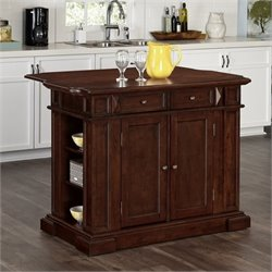 Home Styles Americana Kitchen Island in Cherry