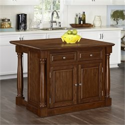 Home Styles Monarch Kitchen Island with Wood Top in Oak