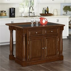 Kitchen Island with Granite Top in Oak