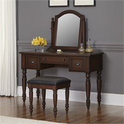 Home Styles Country Comfort Vanity and Bench in Aged Bourbon