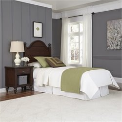 Home Styles Country Comfort Twin Headboard and Night Stand in Bourbon