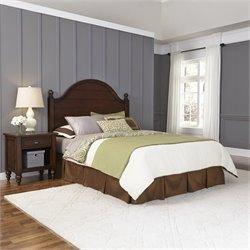 Home Styles Country Comfort Queen Headboard and Night Stand in Bourbon