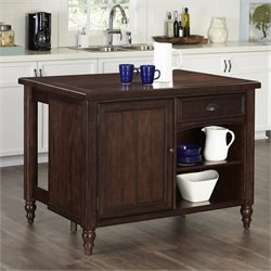 Home Styles Country Comfort Kitchen Island in Aged Bourbon