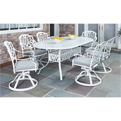 7 Piece Dining Set in White