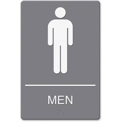 U.S. Stamp & Sign ADA Men's Restroom Sign w Symbol